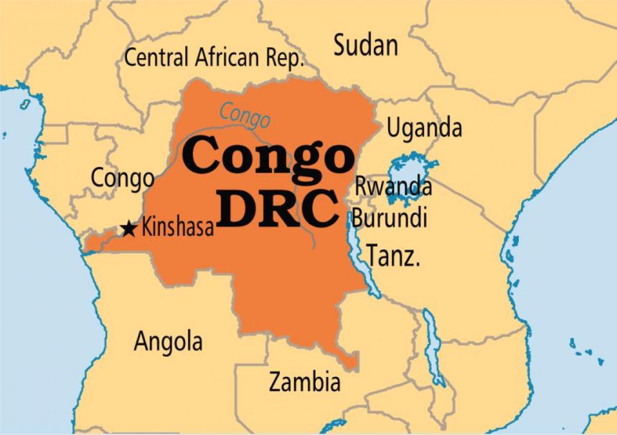 Drc-map - Karte der demokratischen Republik Kongo (Mitten in Afrika on