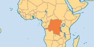 Zaire Auf Weltkarte Karte Von Zaire Auf Der Welt Mitten In